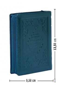 (CEP Boy 9.5X13.5 cm, Fermuarlı, YEŞİL) Efdal Bilgisayar Hatlı Kuran-ı Kerim ve Yüce Meali