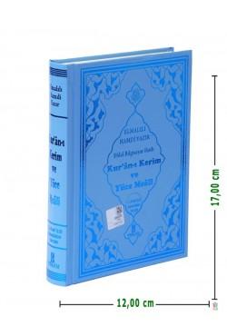 (Hafız Boy 12X17Cm, Sert Kapak, MAVİ) | Efdal Bilgisayar Hatlı Kuran-ı Kerim ve Yüce Meali