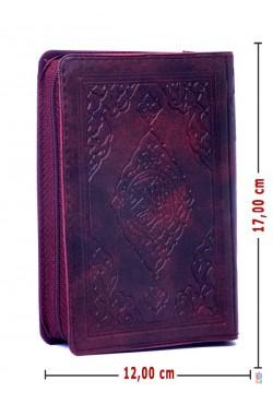 (Hafız Boy 12X17Cm, Fermuarlı,BORDO) | Efdal Bilgisayar Hatlı Kuran-ı Kerim