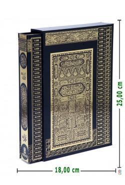 KUTULU,Yaldızlı | Efdal Bilgisayar Hatlı Kuran-ı Kerim (ORTA Boy | SİYAH)