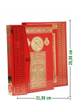 KUTULU,Yaldızlı | Efdal Bilgisayar Hatlı Kuran-ı Kerim (RAHLE Boy | KIRMIZI)